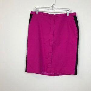🧜🏻♀️WORTHINGTON 14 magenta black pencil skirt
